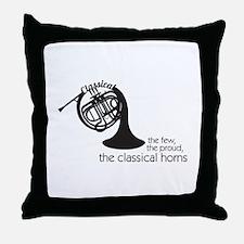 The Classical Horns Throw Pillow