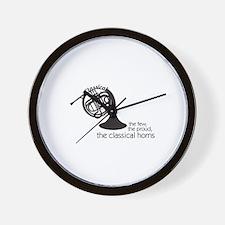 The Classical Horns Wall Clock