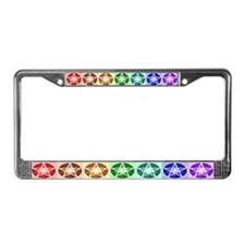 Classic Pentacle Bar License Plate Frame