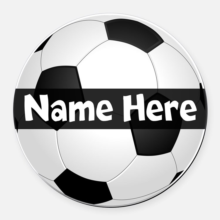 Personalized Soccer Ball Round Car Magnet