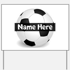Personalized Soccer Ball Yard Sign