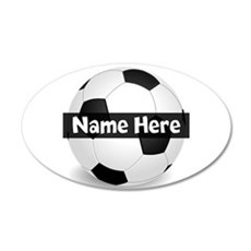 Personalized Soccer Ball Wall Decal Sticker