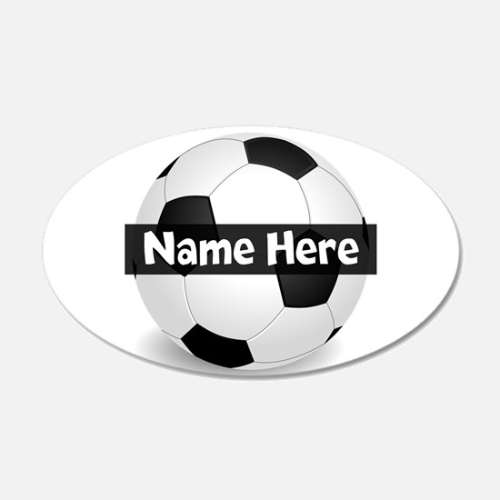 Personalized Soccer Ball Decal Wall Sticker