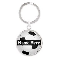 Personalized Soccer Ball Keychains