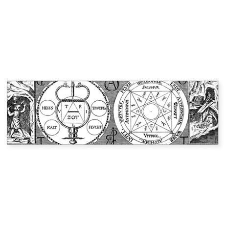 Hermetic Magic Diagram Bumper Sticker