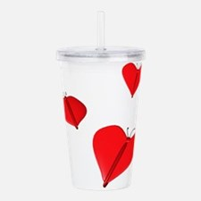 butterflyhearts.png Acrylic Double-wall Tumbler