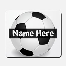 Personalized Soccer Ball Mousepad