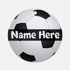 Personalized Soccer Ball Ornament (Round)
