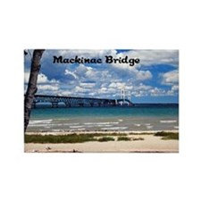 Mackinac Bridge Rectangle Magnet