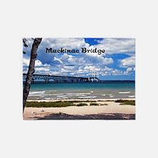 Mackinac Bridge 5'x7'Area Rug