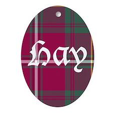 Tartan - Hay Ornament (Oval)
