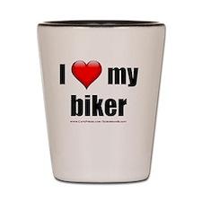 Cute Biker club Shot Glass