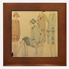 Unique 1930s Framed Tile