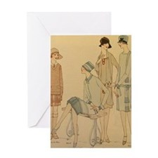 1920s Fall Fashion Greeting Cards