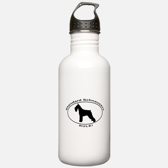 STANDARD SCHNAUZERS RULE Water Bottle