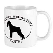 STANDARD SCHNAUZERS RULE Mugs
