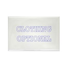 Clothing Optional Rectangle Magnet