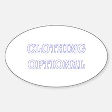Clothing Optional Oval Decal