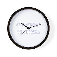 Clothing Optional Wall Clock