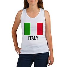 Italian Flag Text of Italy Tank Top