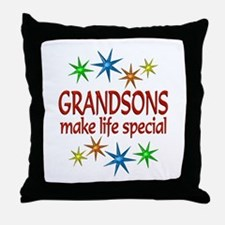 Special Grandson Throw Pillow