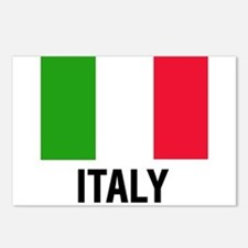 Unique Italian flag Postcards (Package of 8)