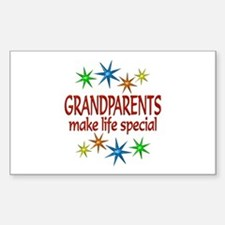 Special Grandparents Sticker (Rectangle)