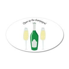 Open Champagne Wall Decal