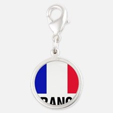 French Flag France Text Charms