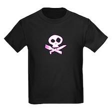 Pink Foodie Skull T