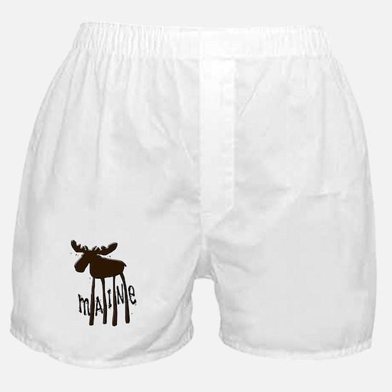 Maine Moose Boxer Shorts
