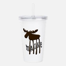 Maine Moose Acrylic Double-wall Tumbler