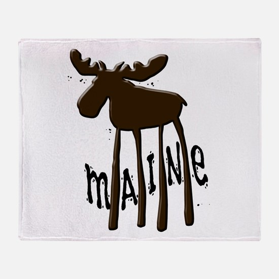 Maine Moose Throw Blanket