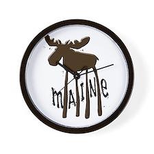 Maine Moose Wall Clock