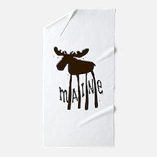 Maine Moose Beach Towel