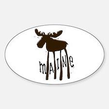Maine Moose Sticker (Oval)