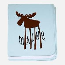 Maine Moose baby blanket