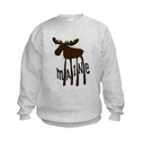 Maine moose Crew Neck
