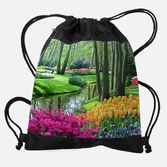 beautiful garden 2 Drawstring Bag