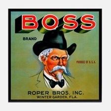 Boss Brand Vintage Label Tile Coaster