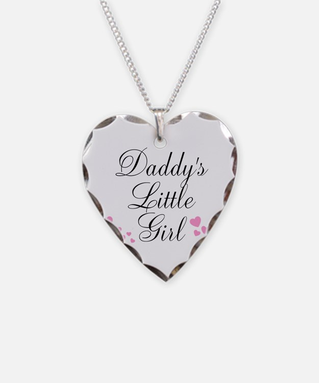 Daddys Little Girl Pink Hearts Necklace