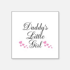 Daddys Little Girl Pink Hearts Sticker