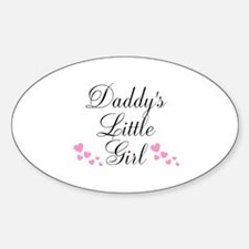 Daddys Little Girl Pink Hearts Decal