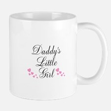 Daddys Little Girl Pink Hearts Mugs