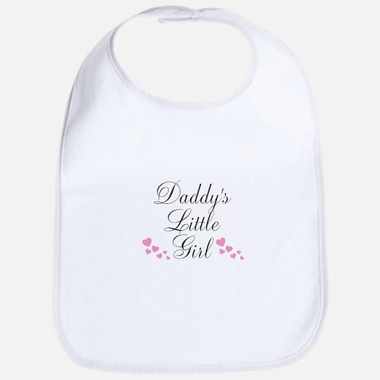 Daddys Little Girl Pink Hearts Bib