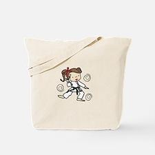Karate Girl Tote Bag