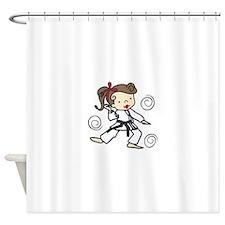 Karate Girl Shower Curtain