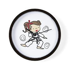 Karate Girl Wall Clock