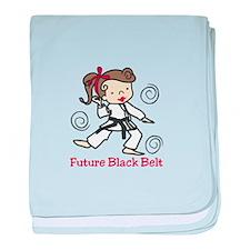 Future Black Belt baby blanket