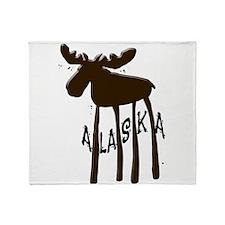 Alaska Moose Throw Blanket
